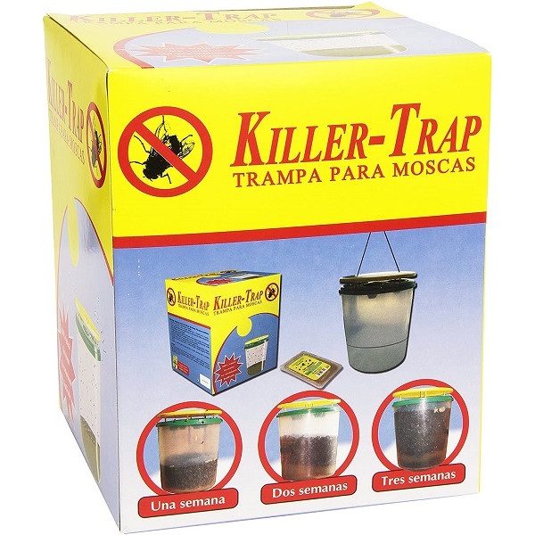 Fly trap with attractant