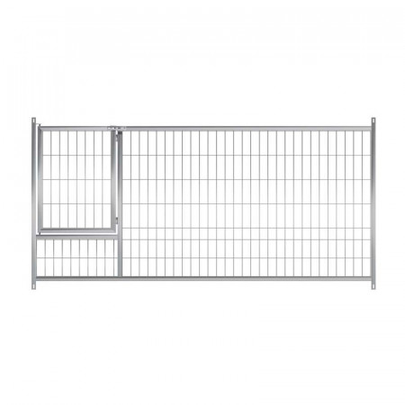 Frente malla 150 cm con puerta para boxes de cachorros