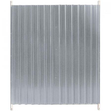 Lateral de aluminio de 150 cm para boxes de perros
