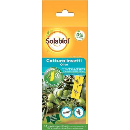 láminas adhesivas con feromonas para la captura de insectos nocivos para los olivos