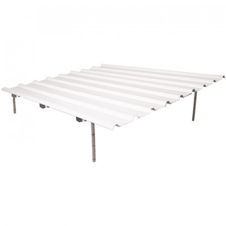 Lacquered aluminum roof for dog boxes
