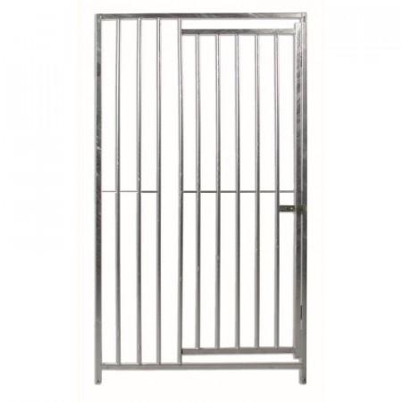 Frente con puerta para boxes de perros  100 cm separación entre barras 8cm