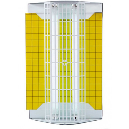 exterminador eléctrico de insectos voladores profesional con 2 tubos 15W por placa adhesiva