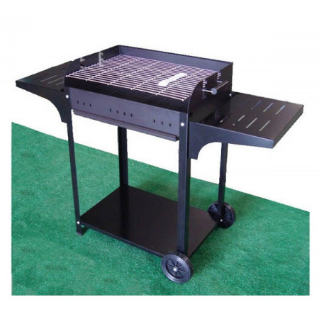 barbecue with adjustable grill