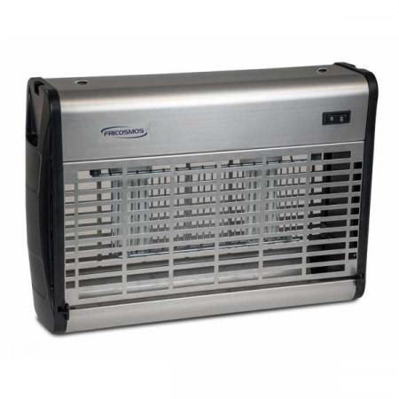 Trampa para moscas, mosquitos por descarga eléctrica 2 tubos 20W UK-80 INOX