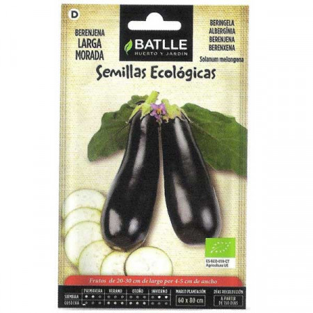 Eggplant long purple-eco